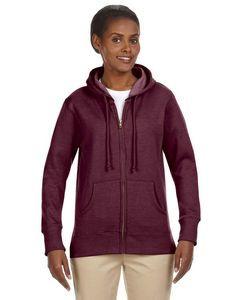 Econscious Ladies' 7 Oz. Organic/Recycled Heathered Fleece Full-Zip Hoodie