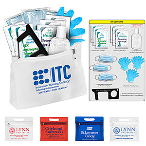 """14 Piece """"Work–School-Travel"""" Kit inserted into Zipper Pouch"""