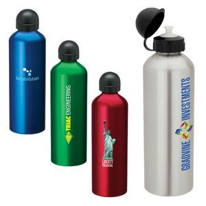 1 Liter Dome Top Aluminum Bottle