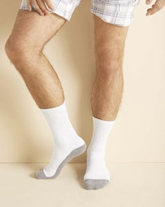 Gildan Adult Platinum? Adult Crew Socks