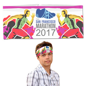 """The Austin"" Sporty Full-Color Sublimated Headband Headwear"