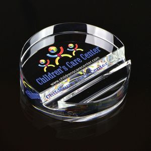 Round Crystal Phone Stand Paperweight
