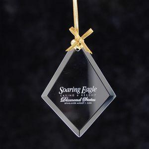 Diamond Jade Glass Ornament