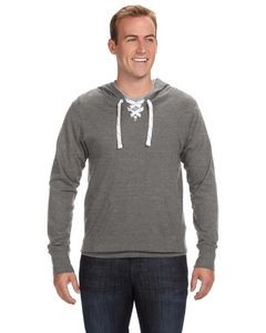 J. America Adult Unisex Sport Lace Jersey Hoodie