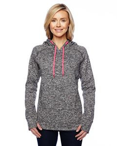 J. America Ladies' Cosmic Contrast Fleece Hoodie