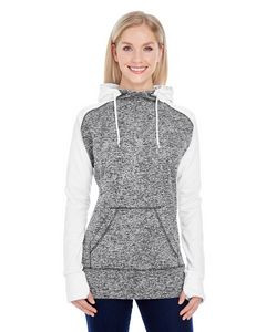 J. America Ladies' Colorblock Cosmic Hoodie