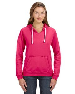 J. America Ladies' Sydney Brushed V-Neck Hoodie