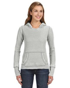 J. America Ladies' Zen Pullover Fleece Hoodie