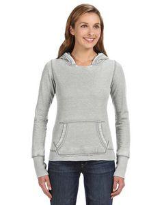 J. America Ladies' Zen Pullover Fleece Hoodie