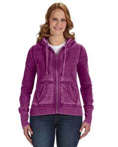 J AMERICA Ladies' Zen Full-Zip Fleece Hood