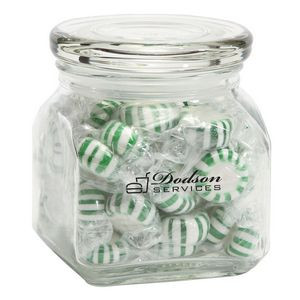 Striped Spearmints in Small Glass Jar