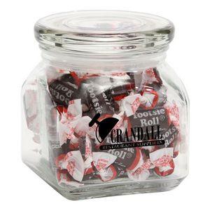 Tootsie Rolls in Small Glass Jar