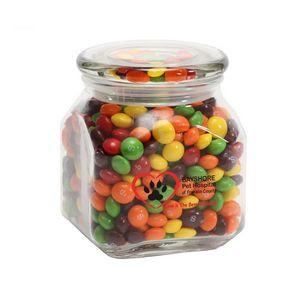Skittles in Medium Glass Jar