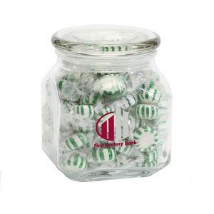 Striped Spearmints in Medium Glass Jar