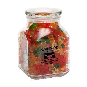 Gummy Bears in Large Glass Jar
