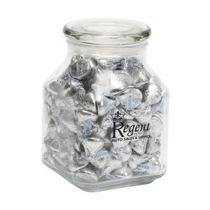Hershey kisses in Large Glass Jar