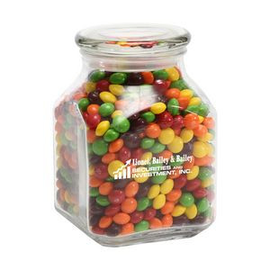Skittles in Large Glass Jar