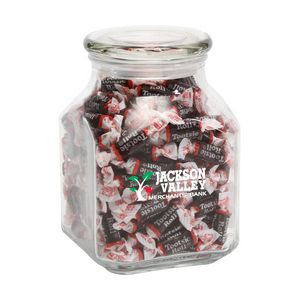 Tootsie Rolls in Large Glass Jar