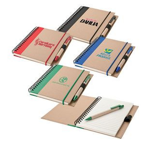Recycled Notebook & Pen