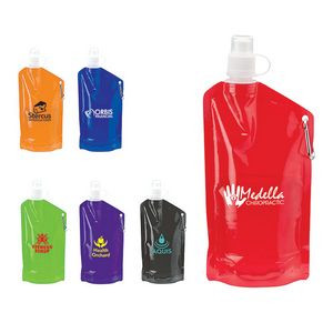 25 oz. Handled Roll Up PE Water Bottle