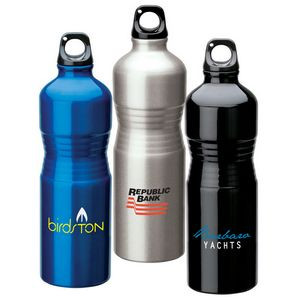 23 oz. Aluminum Water Bottle w/ Ribbed Grip Area