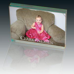 Atrium Glass Large Desk Photo Frame
