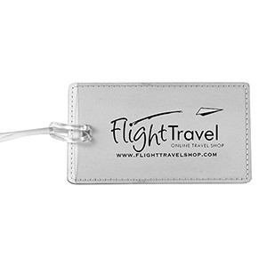 """Lightning"" Leatherette Luggage Bag Tag"