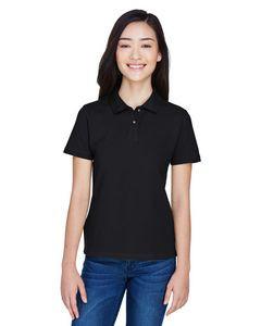 Harriton® Ladies' 6 Oz. Ringspun Cotton Piqué Short Sleeve Polo Shirt