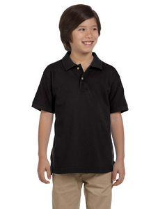 Harriton® Youth 6 Oz. Ringspun Cotton Piqué Short Sleeve Polo Shirt
