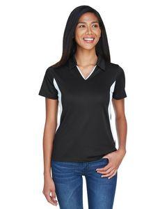 Harriton® Ladies' Side Blocked Micro Piqué Polo Shirt