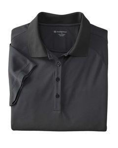 Harriton® Ladies' 3.8 Oz. Polytech Mesh Insert Polo Shirt