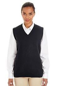 Harriton® Pilbloc™ V-Neck Ladies' Sweater Vest
