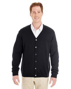 Harriton® Pilbloc™ V-Neck Men's Button Front Cardigan Sweater
