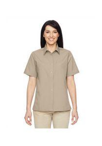 Harriton Ladies' Advantage Snap Closure Short-Sleeve Shirt