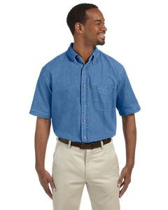 Harriton® Men's 6.5 Oz. Short Sleeve Denim Shirt