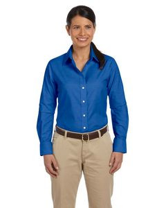 Harriton® Ladies' Long Sleeve Oxford Shirt w/Stain Release