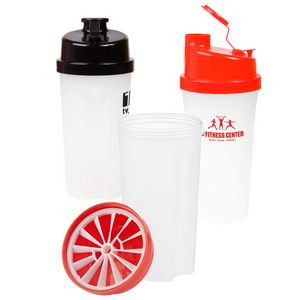 20 oz. Plastic Fitness Shaker with Measurement