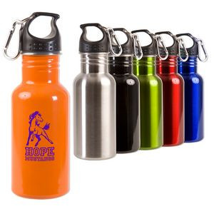 17 oz. Stainless Steel Adventure Bottle with Mini Carabiner