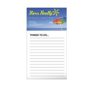 BIC® Business Card Magnet w/50 Sheet Non-Adhesive Notepad