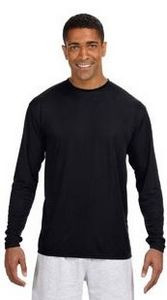 A4 Men's Long-Sleeve Cooling Performance Crew Neck Pullover Shirt