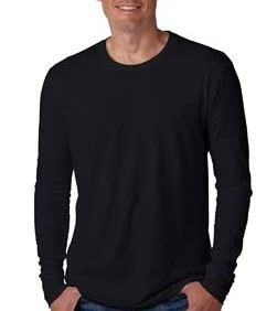 Next Level Men's Cotton Long-Sleeve Crewneck Shirt