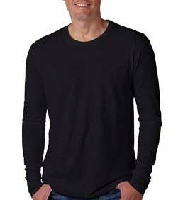 Next Level Men's Cotton Long-Sleeve Crewneck Shirt