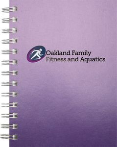 "Wire-Bound GlossMetallic Journals - NotePad (5""x7"")"