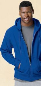 Hanes Printables Adult 7.8 oz. EcoSmart® 50/50 Full-Zip Hood