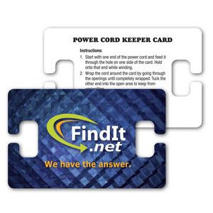 Paper Power Cord Winder / Wallet Card 30 mil