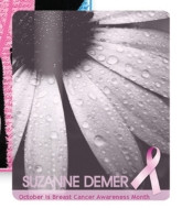 "Breast Cancer Awareness 2.5""x3.5"" Laminated Card Stock Lanyard Card"