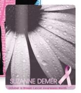 "Breast Cancer Awareness 3.5"" x 4"" Laminated Card Stock Lanyard Card"