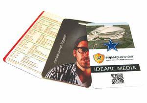 """3.5"""" x 5"""" Laminate Cardstock Lanyard Card - 10 mil"""