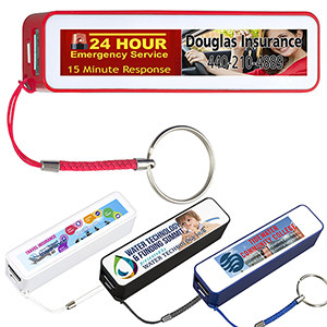 """In Charge"" PB200 UL® 2200 mAh Portable Charger (Full Color)"