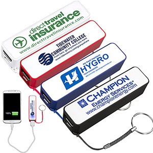 """In Charge"" UL Listed 2200 mAh Portable Lithium Ion Power Bank Charger (Overseas)"